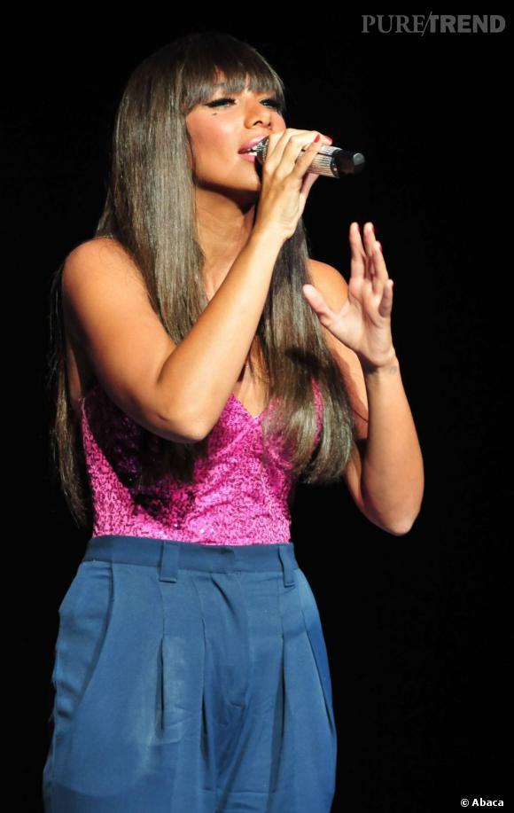 Leona Lewis en concert à New York durant la Fashion Week.