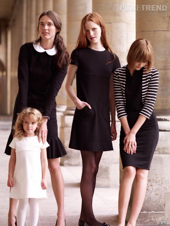 Les petites robes noires Petit Bateau par Didier Ludot.