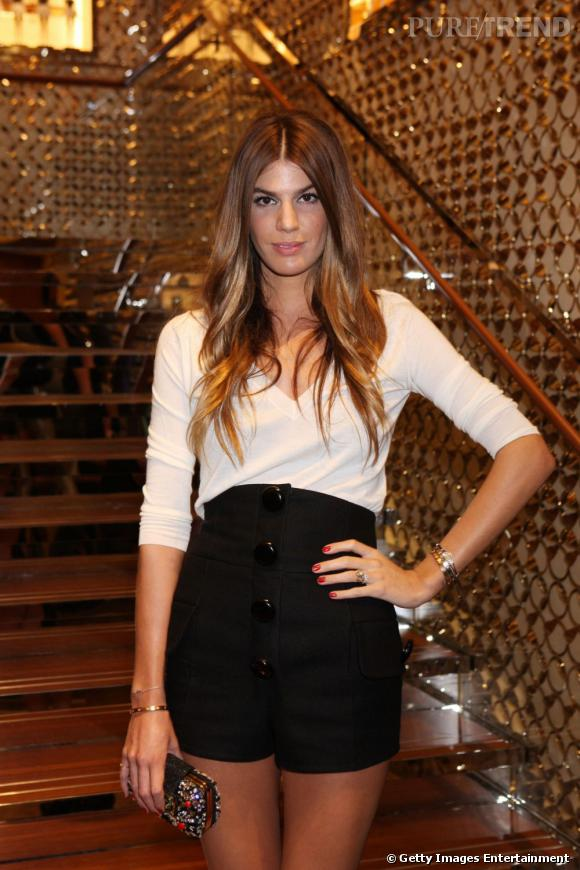 Bianca Brandolini d'Adda pour l'ouverture de la boutique Louis Vuitton à Milan.