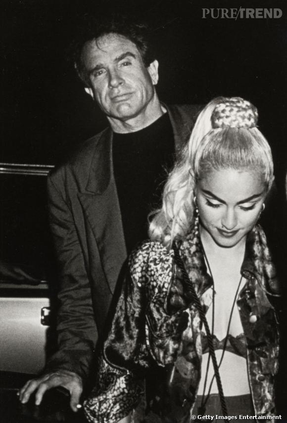 De 1989 à 1991, Madonna se console avec l'acteur/tombeur Warren Beatty.