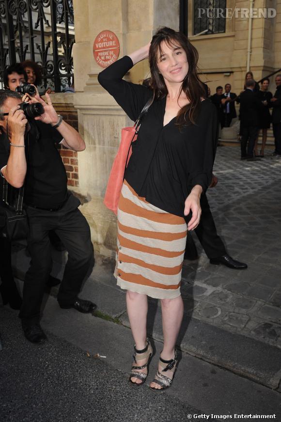 Charlotte Gainsbourg au défilé Balenciaga à Paris