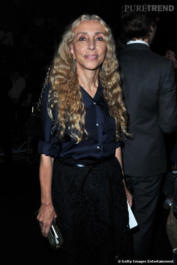 Franca Sozzani, rédactrice en chef du Vogue Italie, chez Lanvin.