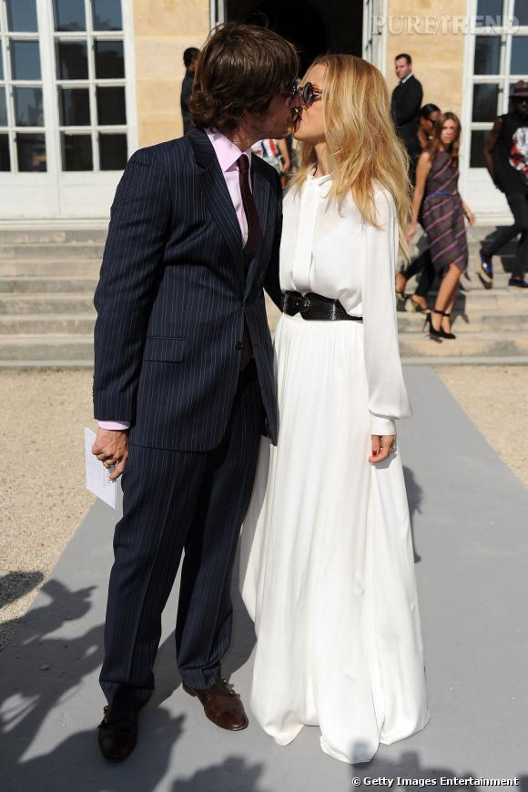 Un couple heureux Rachel Zoe et Rodger Berman chez Dior.