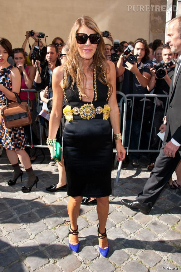 Anna Dello Russo, explosive chez Dior.