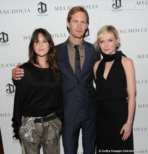 Charlotte Gainsbourg, Alexander Skarsgaard et Kirsten Dunst, un trio mode et glamour.