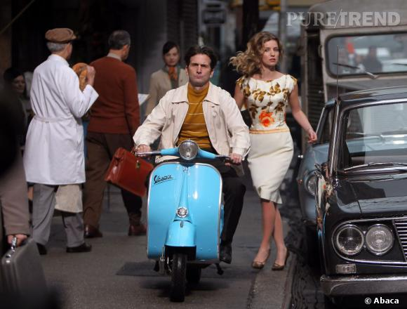 """Annabelle Wallis, Bridget Pierce dans la série sur le tournage de """"Pan Am"""" à New York."""
