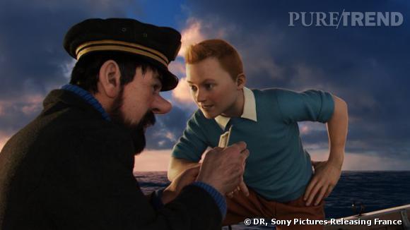 """Jamie Bell en Tintin dans """"Le Secret de la Licorne"""", au cinéma le 26 octobre."""