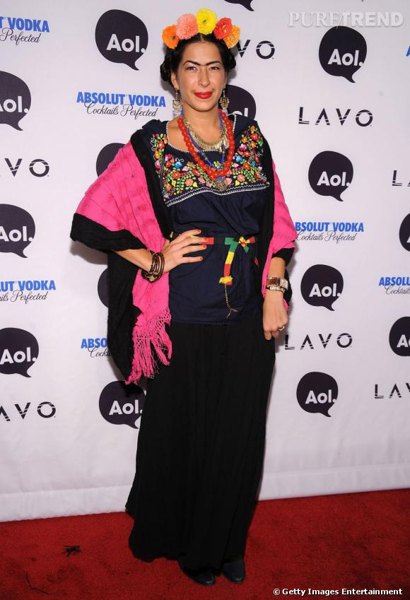 Rebecca Minkoff a décidé de se déguiser en Frida Kahlo. Idée certes géniale mais quelque peu spéciale.