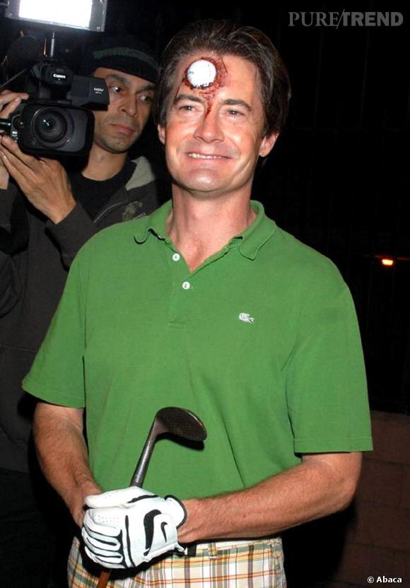 """Dans la catégorie """"déguisement génial, mais un peu dégueu"""" voici Kyle McLachlan, l'acteur de """"Desperate Housewives"""". Ici dans le rôle d'un golfeur... accidenté."""