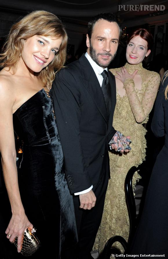 Natalia Vodianova, Tom Ford et Florence Welch.