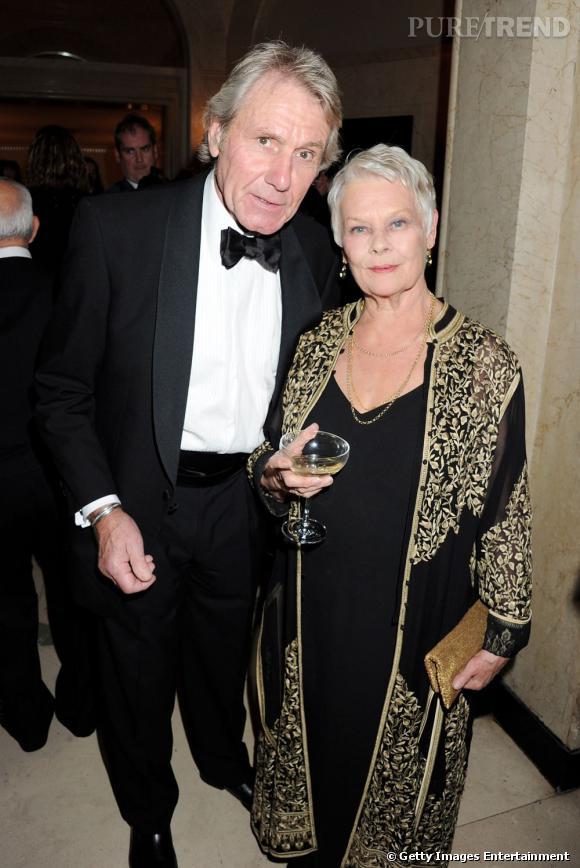 David Mills et Dame Judi Dench, récompensée pour sa carrière.