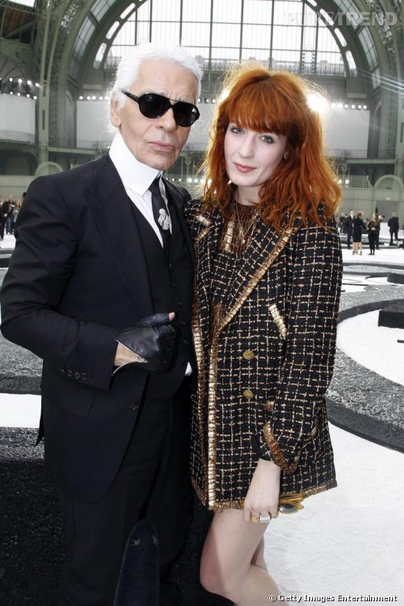 Karl Lagerfeld et Florence Welch.