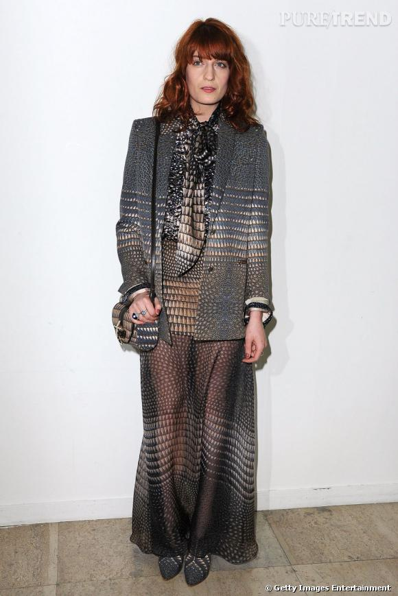 Florence Welch en total look Givenchy.