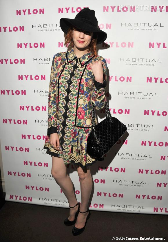 Florence Welch portant une robe Anna Sui.