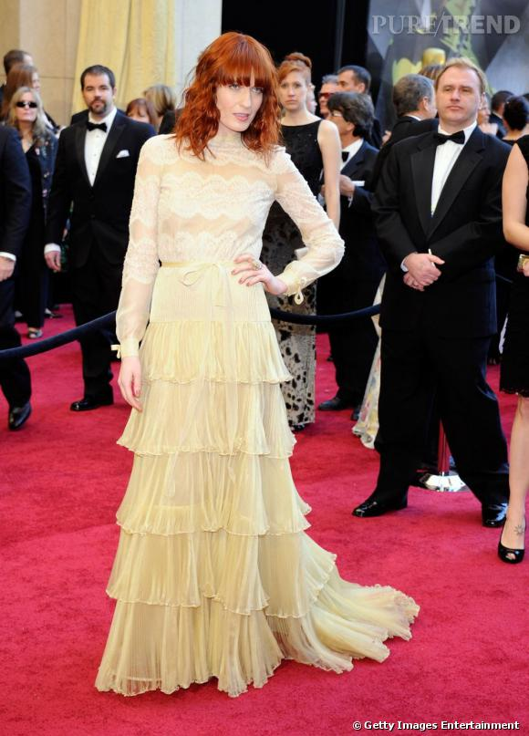Florence Welch portant une robe Valentino Haute Couture.