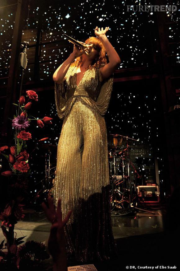 Florence Welch en total look Elie Saab.