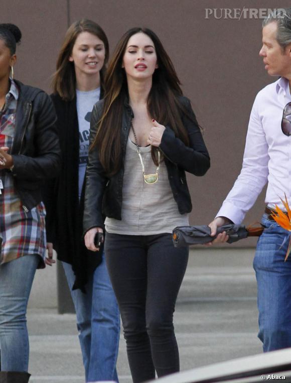 Megan Fox dans les rues de Los Angeles.