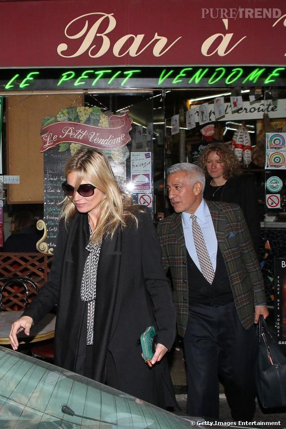 Kate Moss au top dans les rues de Paris.