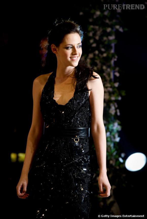 """Kristen Stewart à la première de """"Twilight Révélation Partie 1"""" à Londres."""