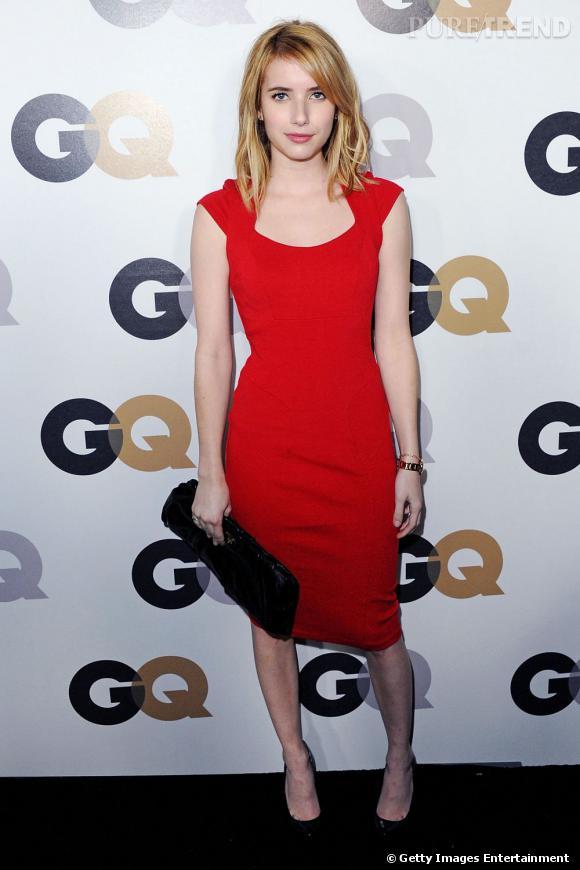 """Emma Roberts à la soirée GQ """"Men of The Year"""" à Los Angeles."""