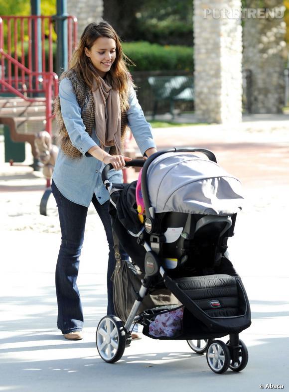 Jessica Alba, une jeune maman qui ne manque pas de style.