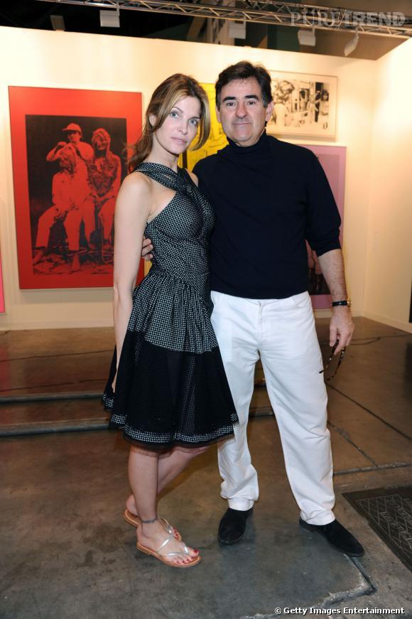 Miami Art Basel   Stéphanie Seymour dans les bras de son compagnon Peter Brant, businessman affairé, propriétaire du magazine Interview, fondé par Warhol en 1969. Il est aussi un grand collectionneur d'art.