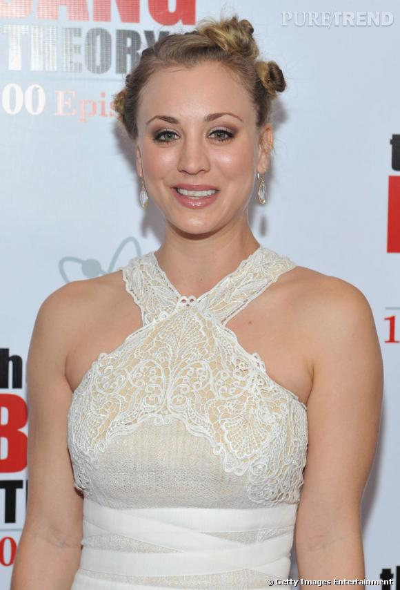 "Kaley Cuoco à la soirée d'anniversaire du 100e épisode de ""Big Bang Theory"" à Los Angeles."