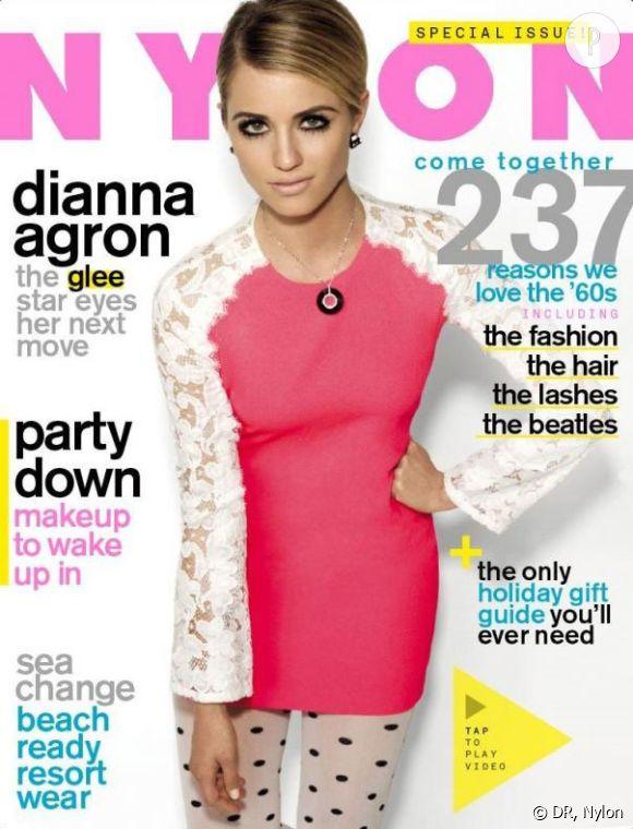 Dianna Agron shootée par Marvin Scott Jarrett pour le Nylon de janvier 2012.