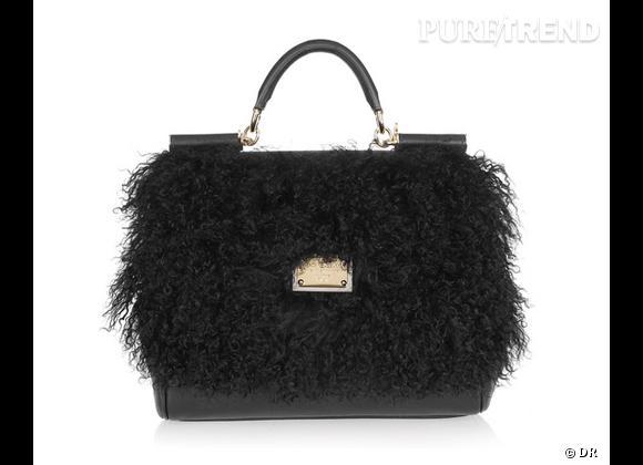 Zoom sur le mouton !     Sac Dolce & Gabbana, 1495 € sur  Net-à-porter .