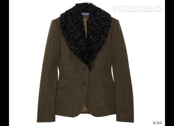 Zoom sur le mouton !     Veste ralph Lauren Collection, 2750 € sur  Net-à-porter .