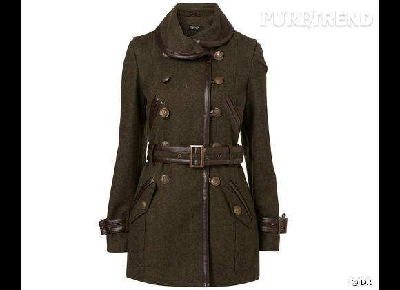 site réputé c0f05 55183 50 manteaux pour cet hiver ! Manteau style militaire Topshop ...