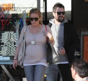Hilary Duff, une femme enceinte perchee