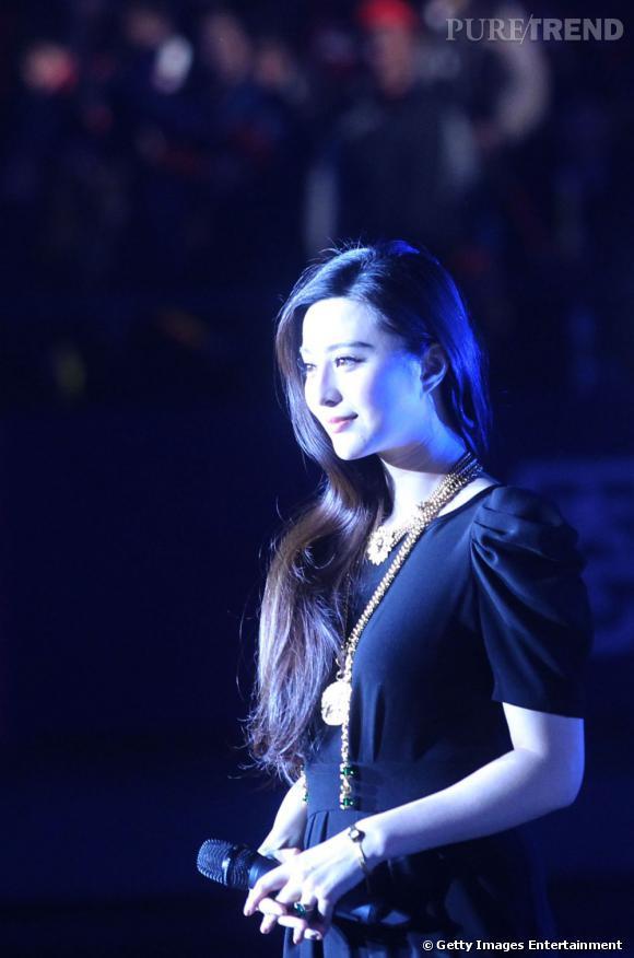 "Fan Bing Bing à Qingdao en Chine pour la promotion du film ""The Next Magic""."