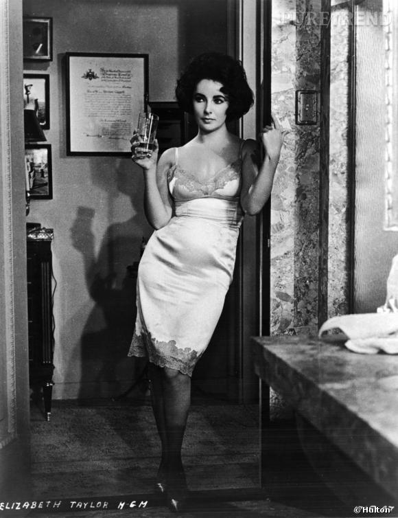 """Nuisette et whisky : Liz en femme fatale écorchée vive sur le tournage du film """"Butterfield 8""""."""