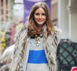 Olivia Palermo, cuir et fourrure pour folle allure... A shopper !