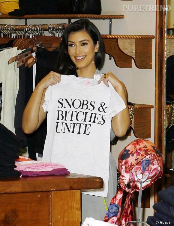 """Kim Kardashian le revendique haut et fort, elle est snob, un peu """"bitch"""" et fière de l'être."""