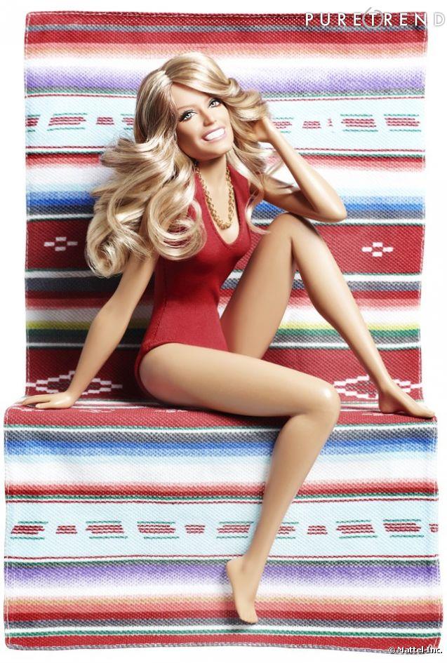 A la mort de l'actrice, Mattel sort la poupée Farrah Fawcett inspirée du célèbre poster.