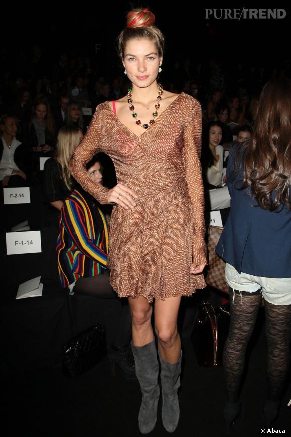 La demoiselle lors de la dernière Fashion Week new-yorkaise chez J. Mendel.