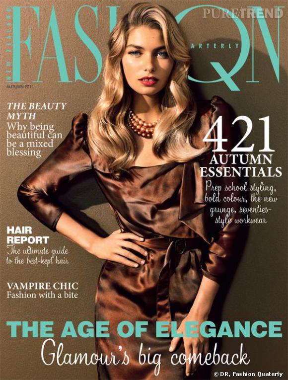 Jessica Hart en couverture de Fashion Quaterly.