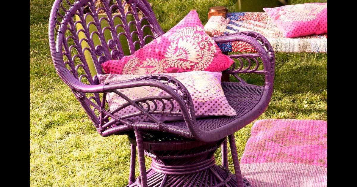 Housse de coussin antik batik pour la redoute 14 90 euros et fauteuil en rot - Housse fauteuil la redoute ...