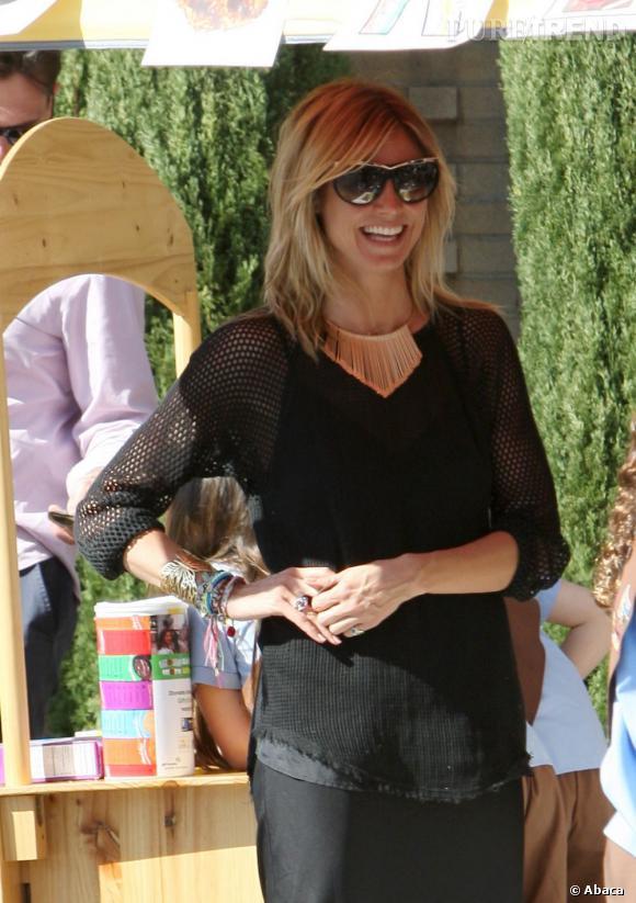 Heidi Klum en famille à Brentwood en Californie.