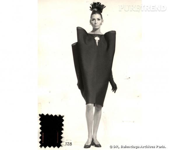 Cristóbal Balenciaga, collectionneur de modes. Balenciaga Robe du soir  n°128 A/