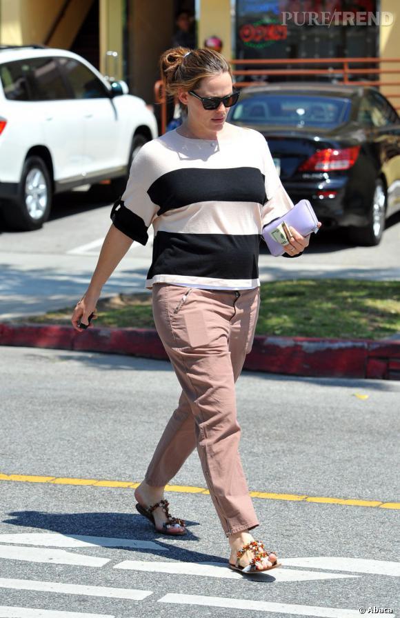 Jennifer Garner en famille à Santa Monica.