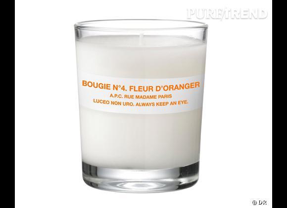 Les bougies parfumées : le bon shopping      A.P.C    Bougie N°4 Fleur d'Oranger, 30 €