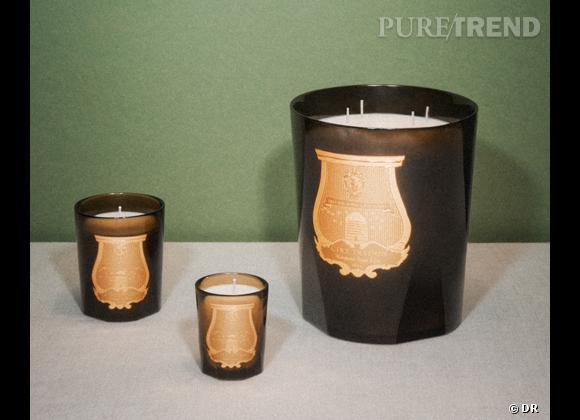 Les bougies parfumées : le bon shopping      Cire Trudon    Gamme de bougies, petite à grande. Parmi les classiques de la maison : Solis Rex ou encore Abd El Kader... Petite, 32 €, moyenne 55 € et grande 300 €.