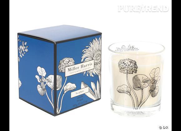 Les bougies parfumées : le bon shopping      Miller Harris    Bougie La Pluie, 45 € chez  colette