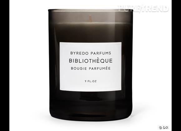 Les bougies parfumées : le bon shopping      Byredo    Bougie Bibliothèque, 55 €