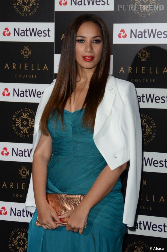 Leona Lewis au défilé Couture Ariella à Londres.