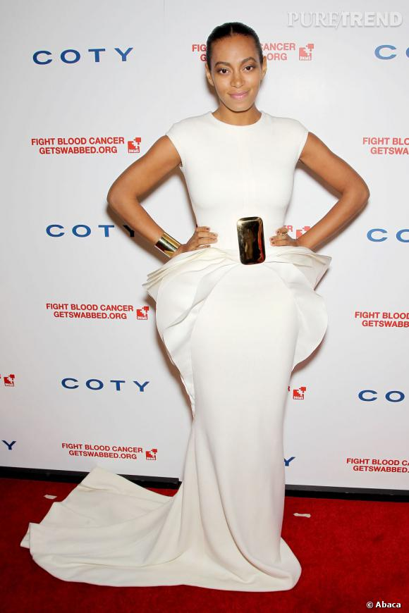 Solange Knowles lors du DKMS Linked Against Blood Cancer gala à New York.