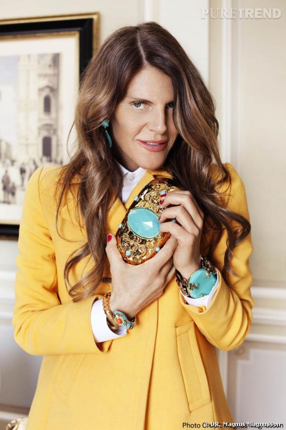 Anna Dello Russo imagine des accessoires pour H&M.